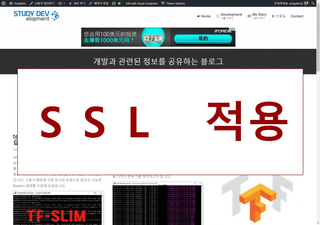 해당 사이트에 HTTPS 사용을 위한 SSL 적용 및 인정서 발급